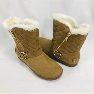 G by Guess Phace-F Brown Quilted & Fur Lined Boots